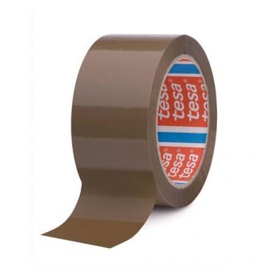 TESA Adhésifs d'emballage havane 42 microns, format 50 mm x 66 m