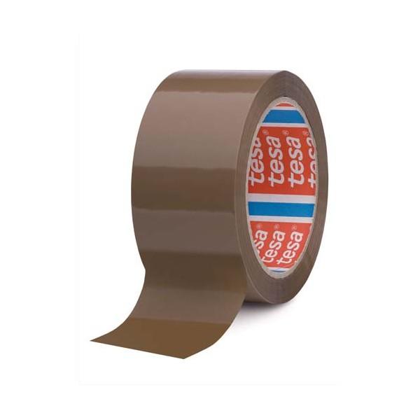 TESA Adhésifs d'emballage havane 42 microns, format 50 mm x 66 m (photo)