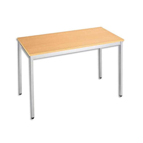 SODEMATUB Table universelle et polyvalente être aluminium - L120 x H74 x P60 cm (photo)