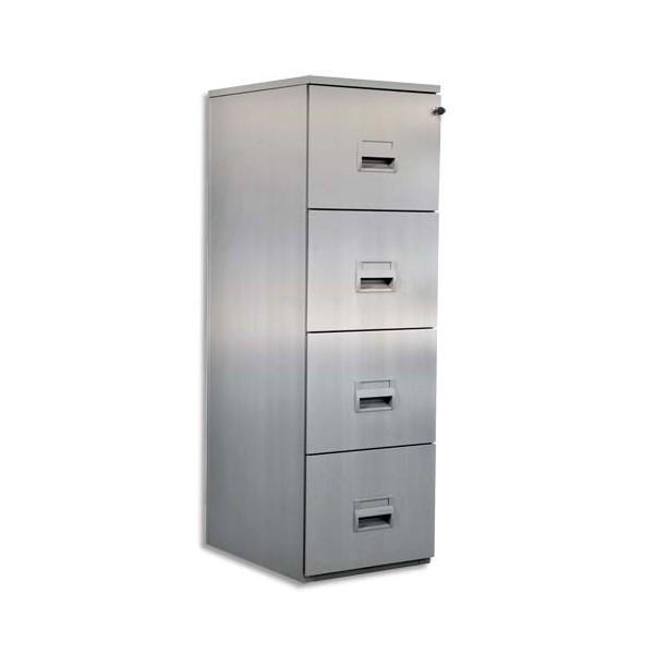 PIERRE HENRY Classeur dossiers suspendus 4 tiroirs - L41,8 x H130,8 x P54,1 cm aluminium