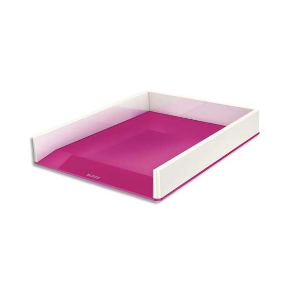 LEITZCorbeille à courrier Dual blanc / rose métallisé - 26,7 x 4,9 x 33,6 cm