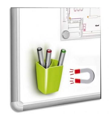 CEP Pot à crayons et feutres, magnétique, 2 compartiments, coloris vert 7,8 x 9,5 x 7,4 cm