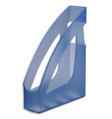JALEMA Porte-revues Silky Touch bleu transparent - 24,6 x 7,5 x 31,1 cm