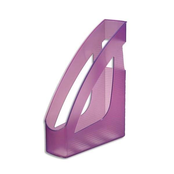 JALEMA Porte-revues Silky Touch violet transparent - 24,6 x 7,5 x 31,1 cm