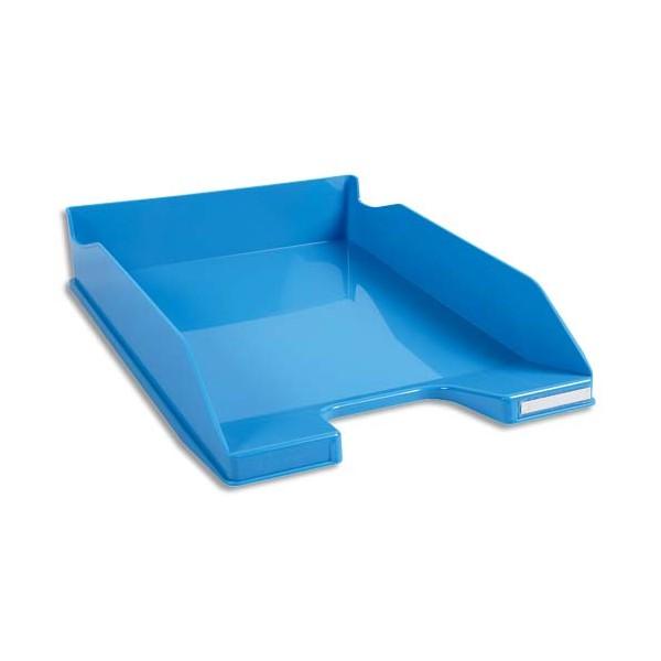 EXACOMPTA Corbeille à courrier Iderama. Coloris turquoise glossy 34,7 x 6,5 x 25,5 cm
