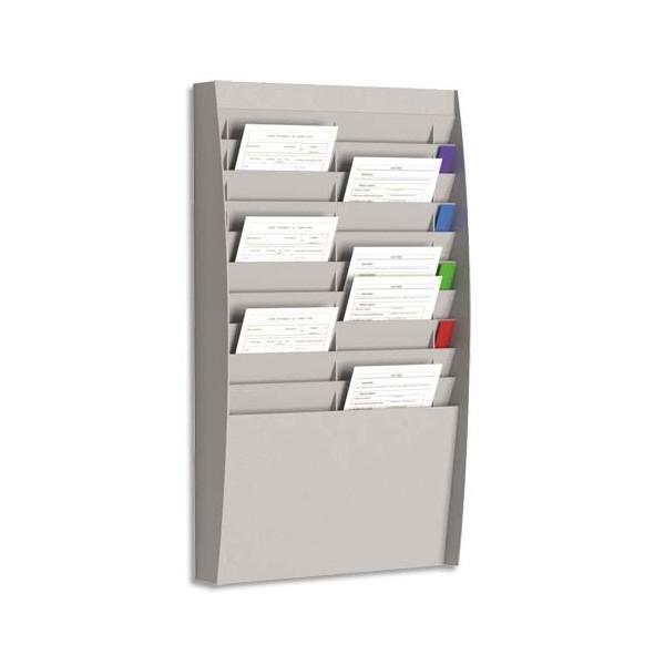 PAPERFLOW Trieur verticale à 20 cases A4, coloris gris - 54,4 x 86,5 x 10,6 cm