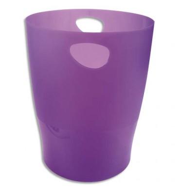 EXACOMPTA Corbeille à papier Iderama 15 L violet translucide
