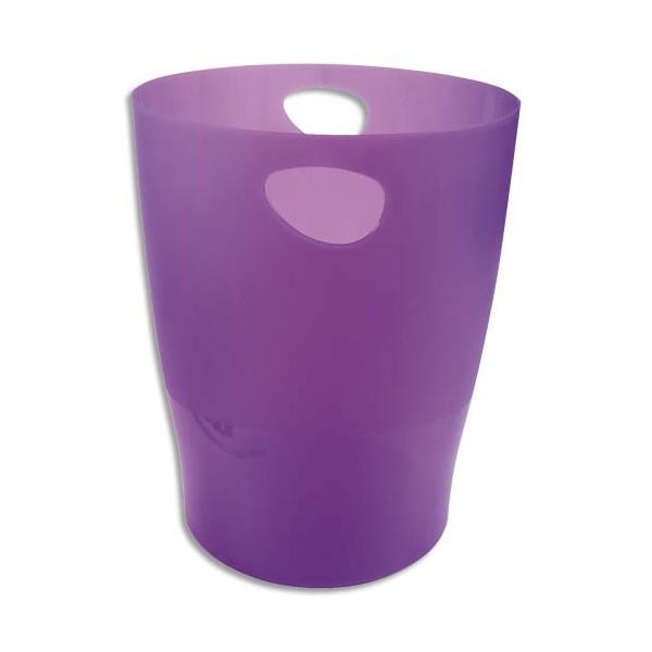 EXACOMPTA Corbeille à papier Iderama 15 L violet translucide (photo)