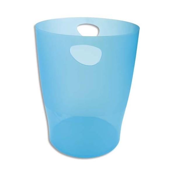EXACOMPTA Corbeille à papier Iderama 15 L turquoise translucide (photo)