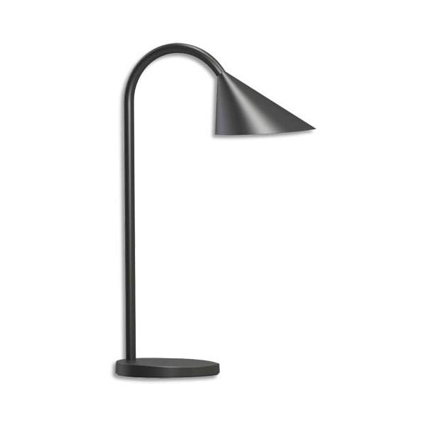 UNILUX Lampe led Sol, tête orientable. Coloris noir. Dimensions tête : 14 cm, socle : 14 cm, hauteur : 45 cm