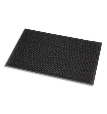 PAPERFLOW Tapis d'accueil en microfibre et polypropylène. Coloris gris. 90 x 150 cm, épaisseur 8 mm
