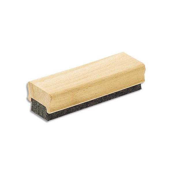 JPC Brosse d'effaçage à lamelle de feutre et corps en bois pour tableau noir