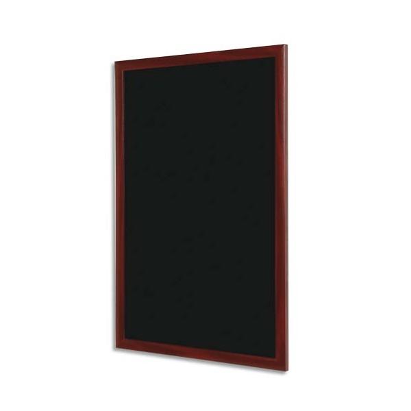 BI-OFFICE Ardoise murale avec cadre coloris merisier. Dimensions L60 x H45 cm