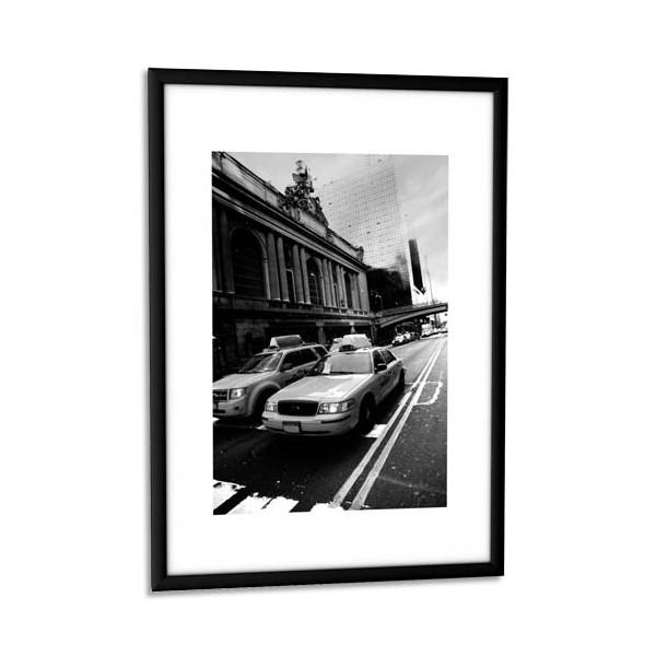 paperflow cadre photo contour aluminium noir plaque en plexiglas 21 x 30 cm. Black Bedroom Furniture Sets. Home Design Ideas