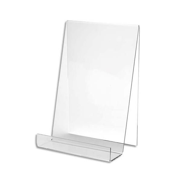 chevalet pour documents a5 poser en pmma vertical 15 x 20 x 17 5 cm deflecto. Black Bedroom Furniture Sets. Home Design Ideas