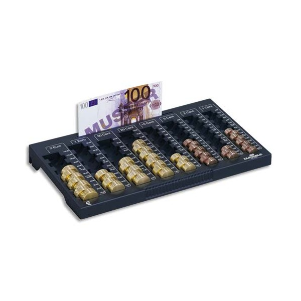 DURABLE Planche de comptage EUROBOARD, 8 compartiments pièces + rangement billets