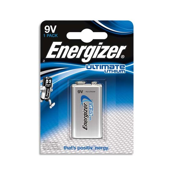 ENERGIZER Blister 1 pile Lithium 9V 6LR61 Ultimate lithium (photo)