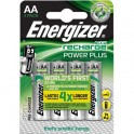 ENERGIZER Blister de 4 piles AA LR6 Power plus rechargeable 2000 mAh