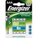 ENERGIZER Blister de 4 piles AAA LR03 Extrem rechargeable 800 mAh