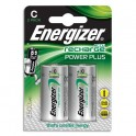 ENERGIZER Blister de 2 piles C LR14 Power plus rechargeable 2500 mAh