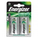 ENERGIZER Blister de 2 piles D LR20 Power plus rechargeable 2500 mAh