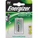 ENERGIZER Blister de 1 pile 9V 6LR61 Power plus rechargeable 175 mAh