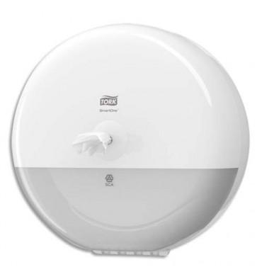 TORK Distributeur papier toilette en rouleau SmartOne blanc en ABS - Diamètre 27,9 cm, hauteur 16,7 cm