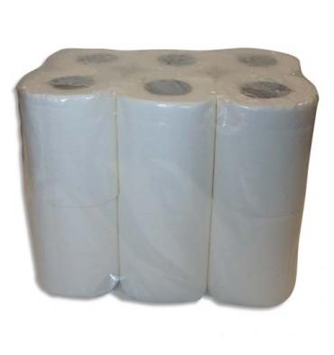 HYGIENE Colis de 4 paquets de 12 Rouleaux de Papier toilette pure ouate 2 plis 144 formats blancs