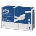 TORK Colis de 21 paquets 200 feuilles Essuie-mains Xpress interfoliés délitable blanc 2 plis 25,5 x 21,2 cm