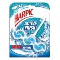 HARPIC Bloc WC Activ Fresh 6 actions pour cuvettes parfum marine