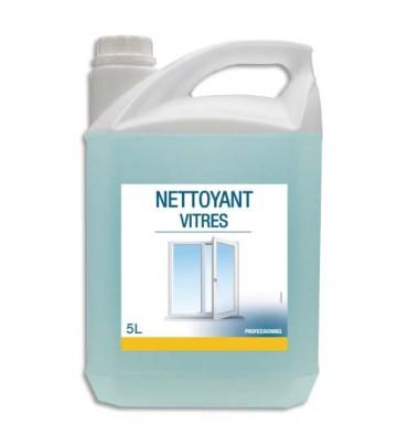 HYGIENE Bidon Nettoyant pour les vitres et surfaces modernes bleu, dégraisse et nettoie, 5 litres