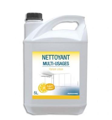 HYGIENE Bidon de 5 Litres Détergent Désodorisant pour sols et surfaces dures parfum citron