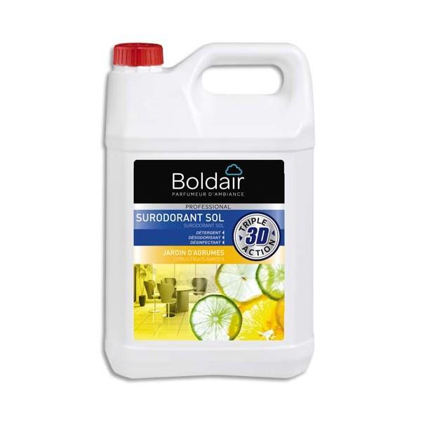 BOLDAIR Bidon 5 Litres 3D Sur-odorant sols détergent désodorisant désinfectant Jardin agrumes
