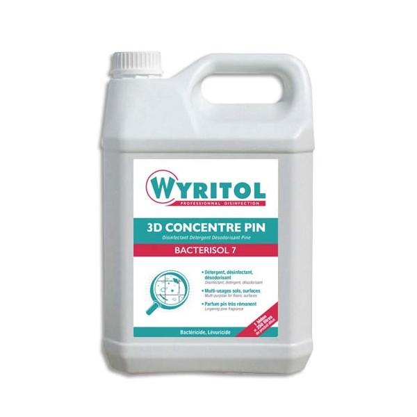 WYRITOL Bidon de 5L Nettoyant multi-usages 3D Bactérisol plus parfum Pin