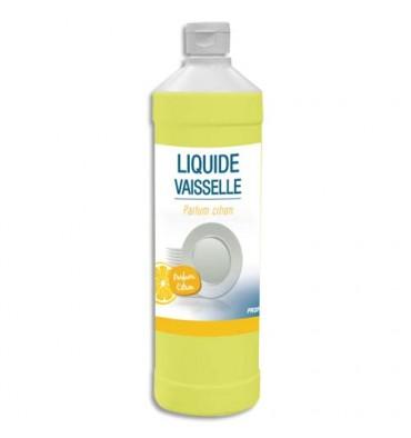 HYGIENE Flacon d'1 Litre Liquide vaisselle concentré 14% matière active, Ph neutre, parfum citron