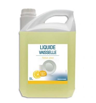 HYGIENE Bidon de 5 Litres Liquide vaisselle concentré 14% matière active, Ph neutre, parfum citron