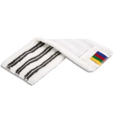VILEDA Frange MicroLite poche et languette en microfibre polyester, format 42 x 2 x 10 cm, coloris blanc noir