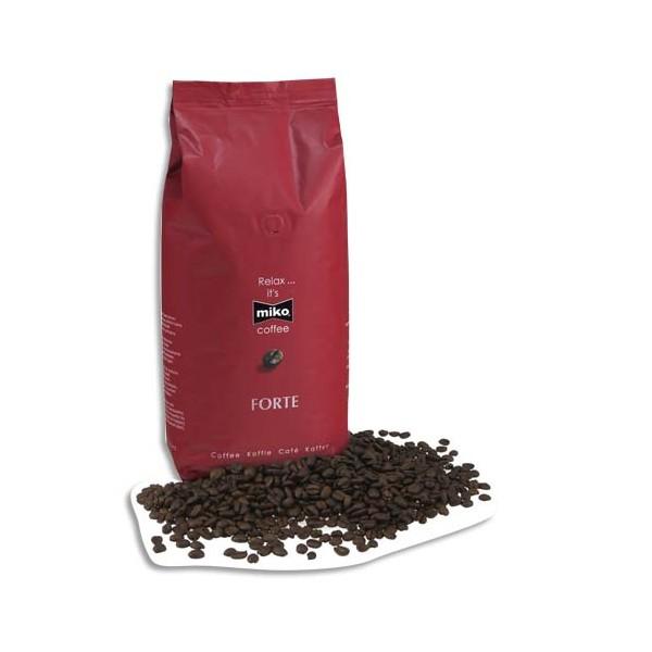 MIKO Paquet de 1 Kg de Café Expresso en grains Forte 70% d'Arabica et 30% de Robusta