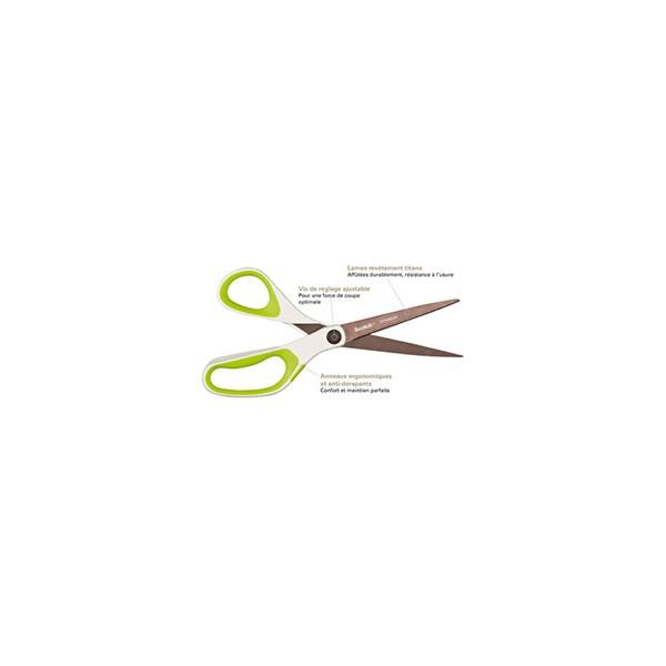 SCOTCH Ciseau Titane ambidextre 21 cm. Coupe sans effort, ultra résistant