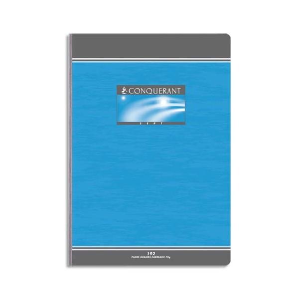 CONQUERANT BY HAMELIN Cahier reliure brochure 21 x 29,7 cm 192 pages Seyès papier 70g