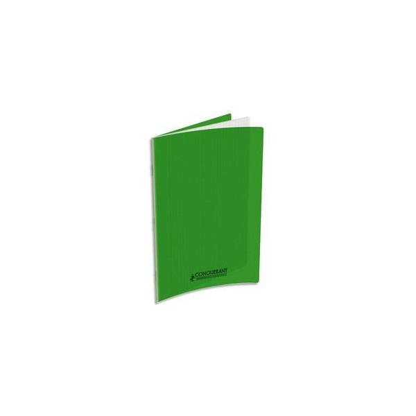 CONQUERANT Cahier A4, 48 pages, 90g, Seyès, couverture polypropylène vert