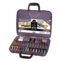 UNIBALL Malette de 20 Posca pointe conique extra fine / fine / moyenne assorties couleurs festives