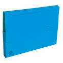 EXACOMPTA Paquet de 50 chemises à poche Forever en carte recyclée 290g, bleu