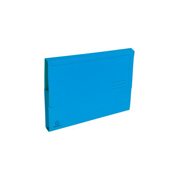 EXACOMPTA Paquet de 50 chemises à poche Forever en carte recyclée 290g, coloris bleu