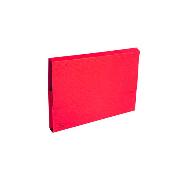 EXACOMPTA Paquet de 50 chemises à poche Forever en carte recyclée 290g, coloris rouge