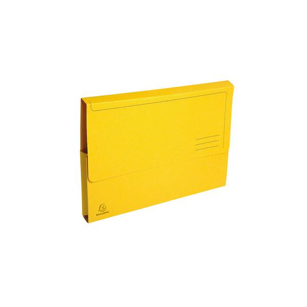 EXACOMPTA Paquet de 50 chemises à poche Forever en carte recyclée 290g, coloris jaune