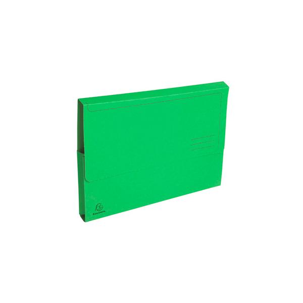 EXACOMPTA Paquet de 50 chemises à poche Forever en carte recyclée 290g, coloris vert