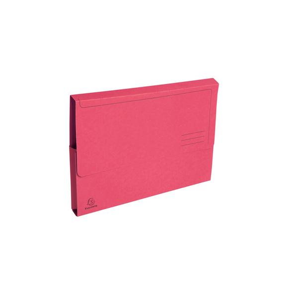 EXACOMPTA Paquet de 50 chemises à poche Forever en carte recyclée 290g, coloris rose