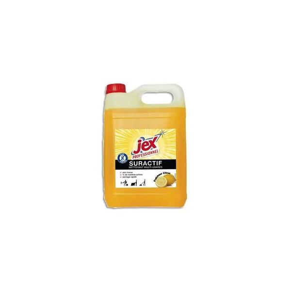 JEX Bidon de nettoyant Suractif, parfum fleur de citron, 5 litres