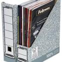 BANKERS BOX Porte-revue dos 8 cm pour format A4, carton recyclé gris/blanc